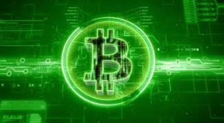 Bitcoin green logo cryptocurrency
